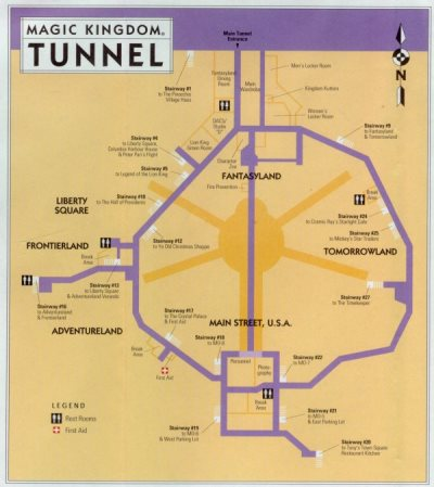 disney tunnels map