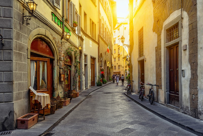 Florence - romantic narrow street