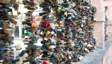 Malá Strana District prague love locks