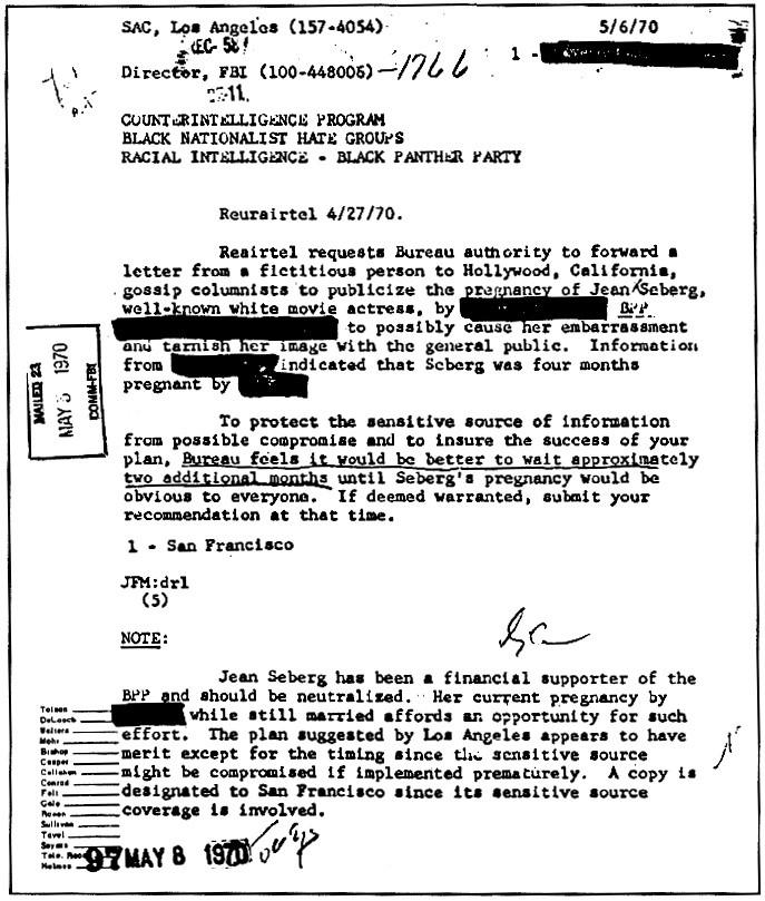 frame black panters FBI