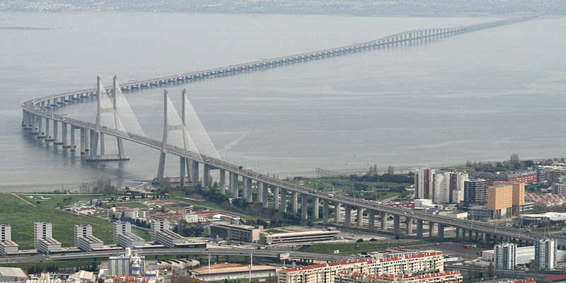vasco da gama bridge longest in europe